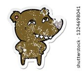 distressed sticker of a cartoon ... | Shutterstock .eps vector #1324698041