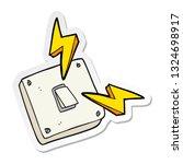 sticker of a cartoon sparking... | Shutterstock .eps vector #1324698917