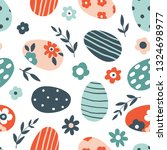 colorful floral easter seamless ... | Shutterstock .eps vector #1324698977