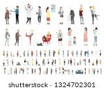 home and family vector people... | Shutterstock .eps vector #1324702301
