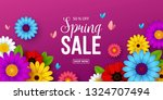 spring sale background with... | Shutterstock .eps vector #1324707494