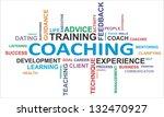 a word cloud of coaching...   Shutterstock . vector #132470927