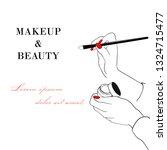 makeup and beauty banner. women'...   Shutterstock .eps vector #1324715477