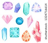 watercolor illustration  gem... | Shutterstock . vector #1324716614