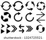 set black arrows icons isolated ...   Shutterstock .eps vector #1324725521