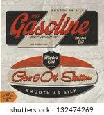 vintage gasoline retro signs... | Shutterstock .eps vector #132474269