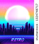 retro futurism. vector... | Shutterstock .eps vector #1324748717