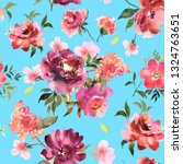 watercolor floral seamless... | Shutterstock . vector #1324763651