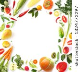 fresh organic vegetables and...   Shutterstock . vector #1324772297