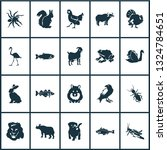 fauna icons set with... | Shutterstock .eps vector #1324784651