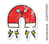 distressed sticker of a cute... | Shutterstock .eps vector #1324792967