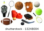 page of sports items | Shutterstock . vector #13248004