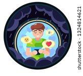 lover freand family cheer up... | Shutterstock . vector #1324814621