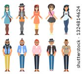 hipster style bearded man young ... | Shutterstock . vector #1324814624