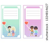 couple lovers girl and boy hold ... | Shutterstock . vector #1324814627