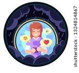 lover freand family cheer up... | Shutterstock . vector #1324814867
