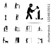 construction  demolish worker... | Shutterstock .eps vector #1324815011