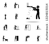 construction  drill worker icon.... | Shutterstock .eps vector #1324815014