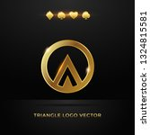 gold triangle in a circle... | Shutterstock .eps vector #1324815581