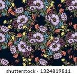 vector moody florals seamless... | Shutterstock .eps vector #1324819811