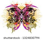 grunge colorful splattered... | Shutterstock .eps vector #1324830794
