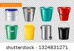 realistic buckets transparent... | Shutterstock .eps vector #1324831271