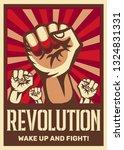 raised fist vintage... | Shutterstock .eps vector #1324831331