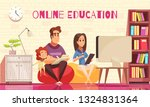 learning home distant education ... | Shutterstock .eps vector #1324831364