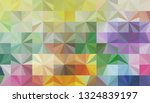 geometric design. colorful... | Shutterstock .eps vector #1324839197
