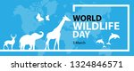 world wildlife day. vector... | Shutterstock .eps vector #1324846571