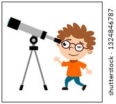 a clever little boy with... | Shutterstock .eps vector #1324846787