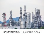 night scene of oil refinery... | Shutterstock . vector #1324847717