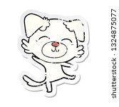 distressed sticker of a cartoon ...   Shutterstock .eps vector #1324875077