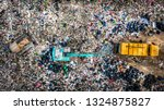 garbage pile  in trash dump or... | Shutterstock . vector #1324875827