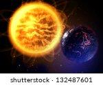 Постер, плакат: Death lava planet in