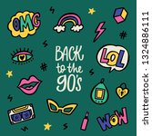 back to the 90's lettering and... | Shutterstock .eps vector #1324886111