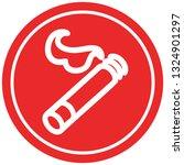 lit cigarette circular icon... | Shutterstock .eps vector #1324901297