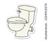 hand drawn sticker cartoon... | Shutterstock .eps vector #1324915274