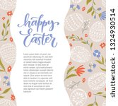 vector happy easter banner with ... | Shutterstock .eps vector #1324930514
