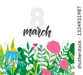 vector 8 march international... | Shutterstock .eps vector #1324931987