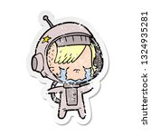 distressed sticker of a cartoon ... | Shutterstock .eps vector #1324935281