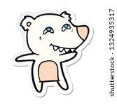 sticker of a cartoon polar bear ... | Shutterstock .eps vector #1324935317