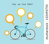 Why We Love Bike. Bicycle With...