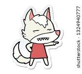sticker of a cartoon wolf... | Shutterstock .eps vector #1324940777