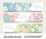 three easter horizontal banners ... | Shutterstock .eps vector #1324946507