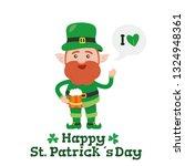 saint patrick s day cartoon... | Shutterstock .eps vector #1324948361