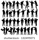 silhouettes of workers | Shutterstock . vector #132495071