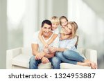 beautiful smiling lovely family ... | Shutterstock . vector #1324953887