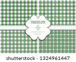 green tablecloth set for st.... | Shutterstock .eps vector #1324961447
