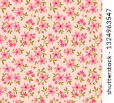 vintage floral background.... | Shutterstock .eps vector #1324963547